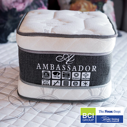 Family Furniture | Silver Lining Ambassador Euro Top Mattress + Base | Various Sizes | Various Sizes - Single/ Three Quarter/ Double/ Queen/ King Size Mattress