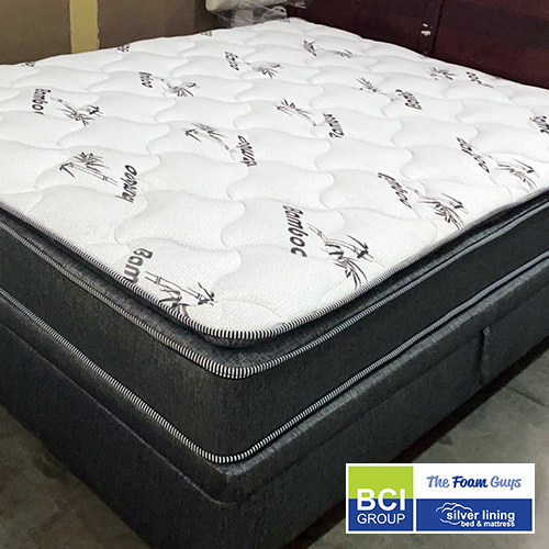 Family Furniture | Silver Lining Bed Base (ONLY) | Various Sizes - Single/ Three Quarter/ Double/ Queen/ King Size Mattress Bases