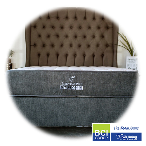 Family Furniture | Silver Lining Essential Plus Mattress + Base | Various Sizes - Single/ Three Quarter/ Double/ Queen/ King Size Mattress