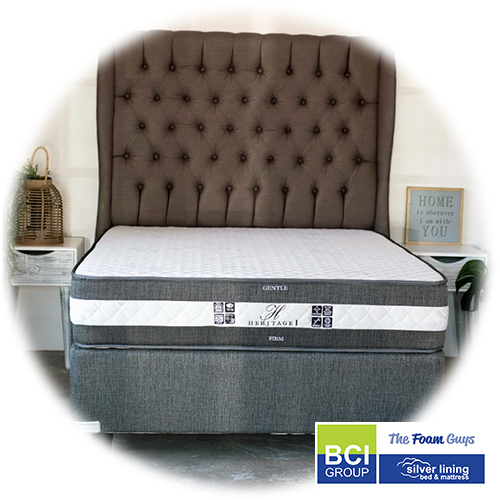 Family Furniture | Silver Lining Heritage I Mattress + Base | Various Sizes - Single/ Three Quarter/ Double/ Queen/ King Size Mattress