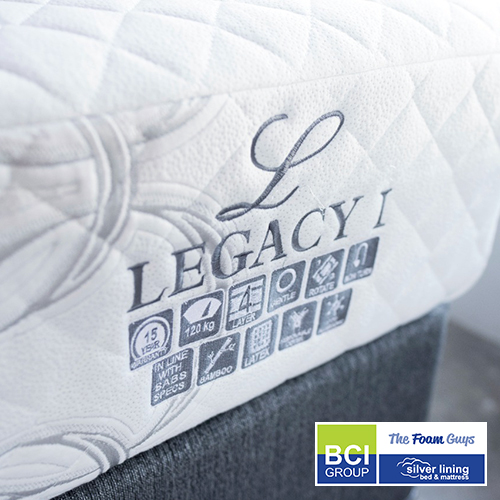 Family Furniture | Silver Lining Legacy I Mattress + Base | Various Sizes - Single/ Three Quarter/ Double/ Queen/ King Size Mattress